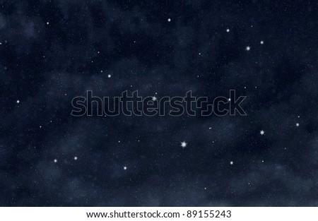 Stars in the dark space - stock photo