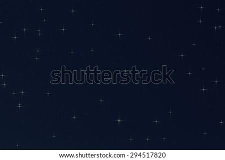 Stars in the Milky Way. Digital illustration. - stock photo