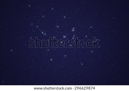 Stars in the Milky Way. Digital illustration - stock photo