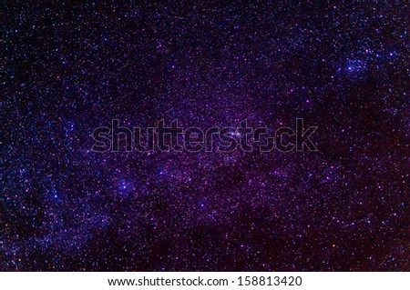 Stars in the night sky.  - stock photo