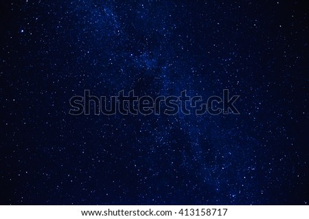 stars in the night sky with milky way