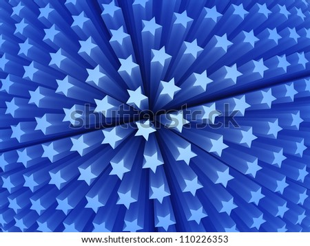 Stars like a sphere. Blue stars. Simple to change colors.