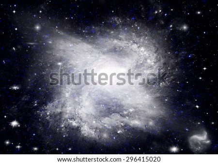 """Stars of a planet and galaxy in a free space """"Elements of this image furnished by NASA"""". - stock photo"""