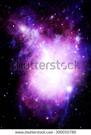 "Stars of a planet and galaxy in a free space ""Elements of this image furnished by NASA"". - stock photo"
