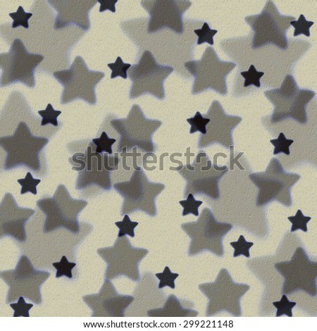 stars of different sizes, background texture