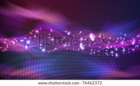 stars of outerspace neon - stock photo