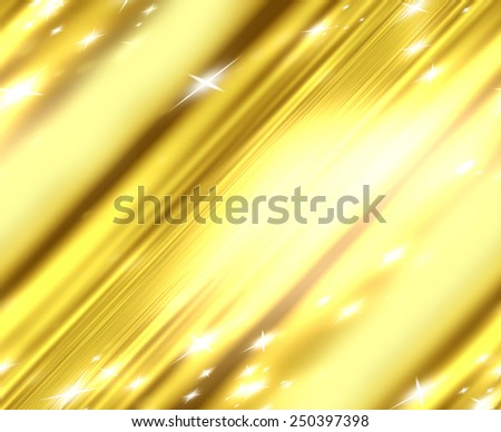 stars on a background of gold and blurry wave - stock photo