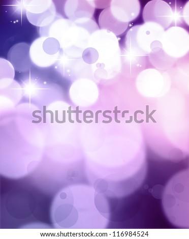 Stars on purple tone background - stock photo