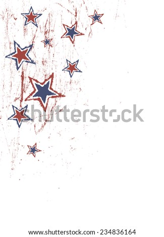 Stars on scratched grunge texture. Raster version - stock photo