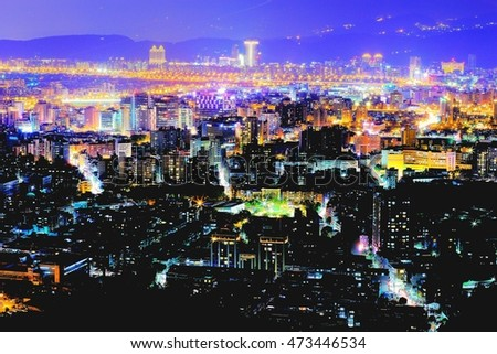 Stars on the ground:Taipei East,the edge of the Taipei City,it's surrounded by living houses and offices,lighting up with the stars in different colors