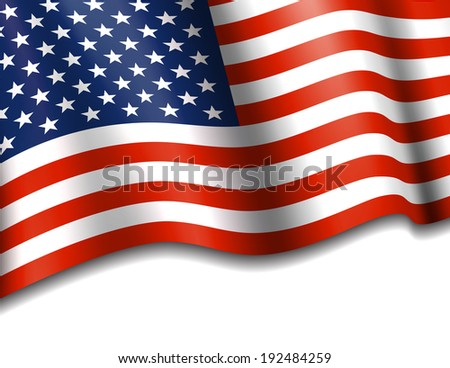 Stars & Stripes American Background - Raster Version