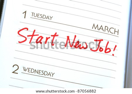 Start a new job concepts of new employment - stock photo