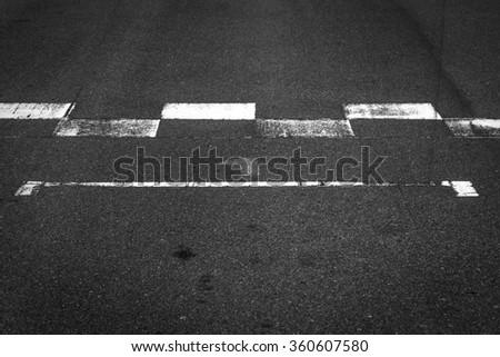 Start and Finish Line  - stock photo