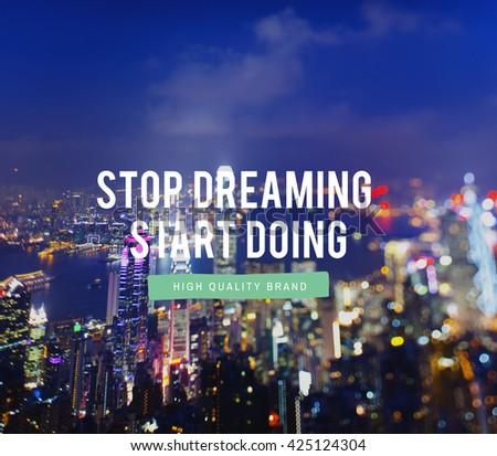 Start Business Imagination Motivation Dreaming Concept - stock photo