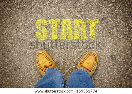 Start concept background. - stock photo