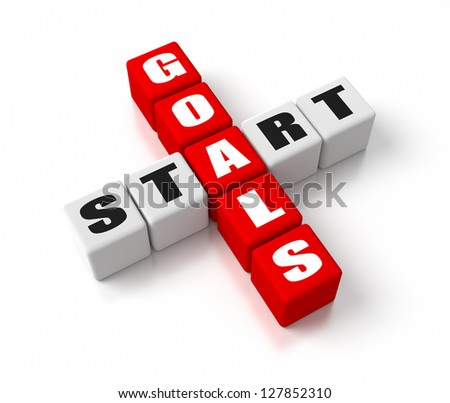 Start Defining Goals crosswords. Part of a business concepts series.