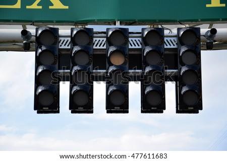 Start lights on race track stock photo edit now shutterstock start lights on a race track aloadofball Gallery
