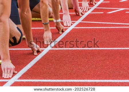 start line - stock photo