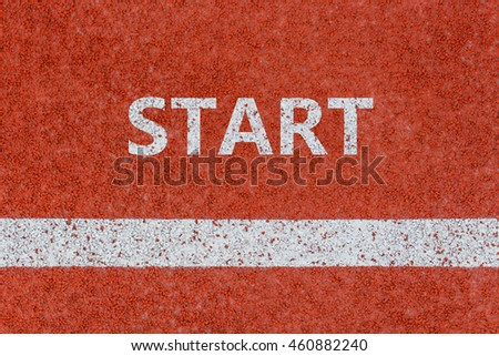 Start line, Start written on running track