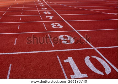 Start  point of race track - stock photo