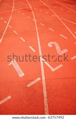 start point of running track - stock photo