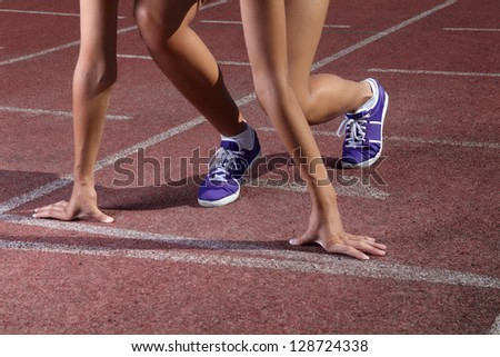 start run - stock photo