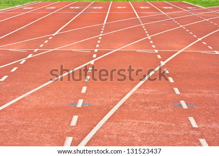 start running track rubber standard red color