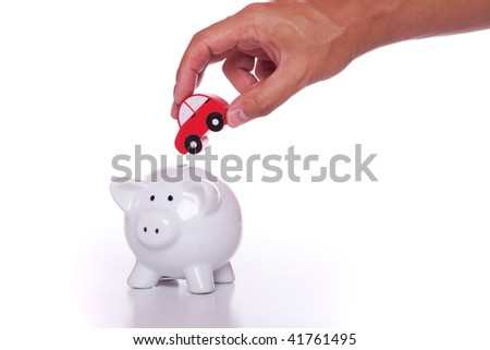 Start saving now for your new car - stock photo