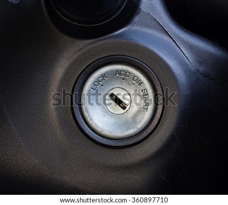 start the car,Car ignition - stock photo
