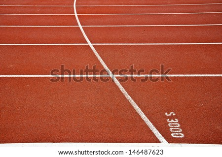 Start three thousan meters on running track