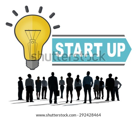 Start Up Launch New Business Growth Brand New Projects Concept