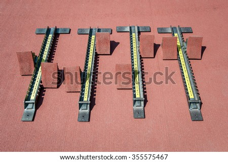 Starting blocks.