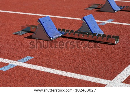 Starting blocks at the start
