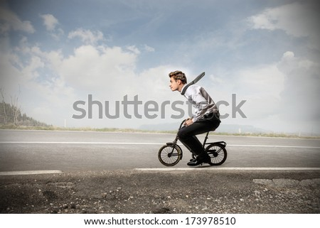 starting businessman - stock photo
