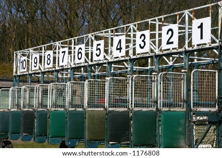Starting gates at a race course