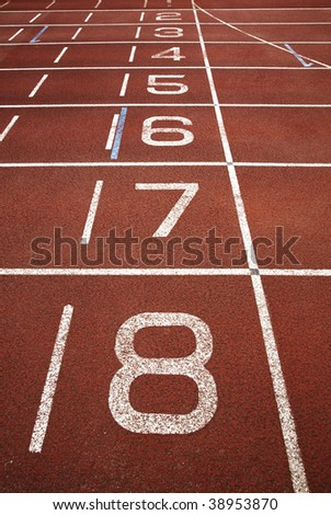 Starting grid of running track