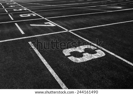 starting point at a running track - stock photo