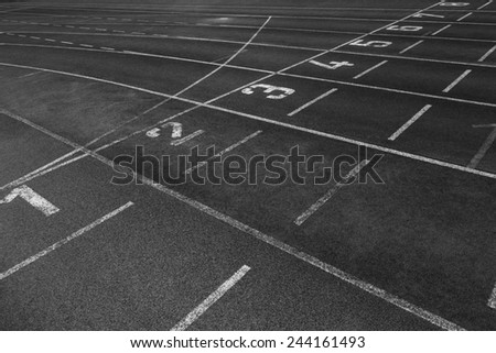 starting point at a running track