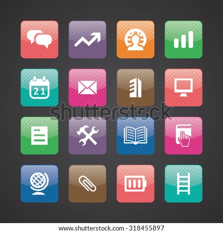startup icons universal set for web and mobile