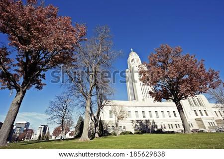 State Capitol Building in Lincoln, Nebraska, USA - stock photo
