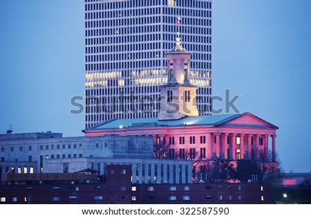 State Capitol Building in Nashville, Tennessee, USA. - stock photo