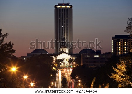 State Capitol Building in Tallahassee, Florida - stock photo