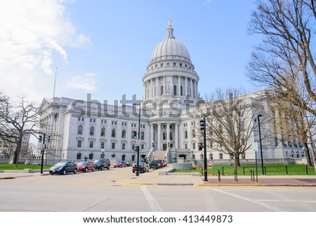 State Capitol building May 2016 in Madison, Wisconsin