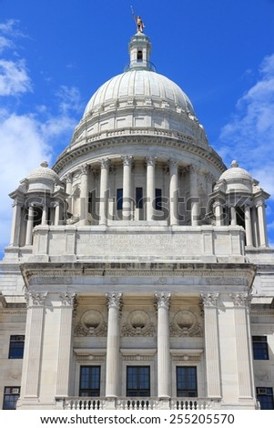 State capitol in Providence, Rhode Island. City in New England region of the US. - stock photo
