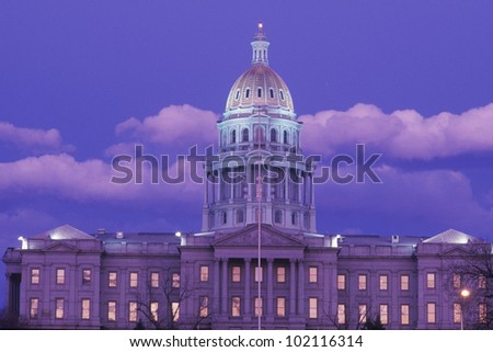 State Capitol of Colorado, Denver - stock photo