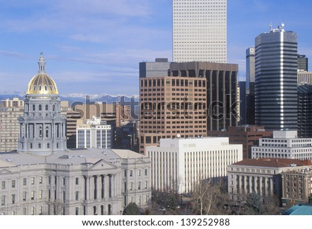 State Capitol of Colorado, Denver, CO - stock photo