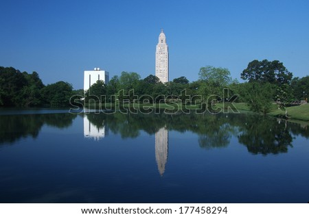 State Capitol of Louisiana, Baton Rouge - stock photo