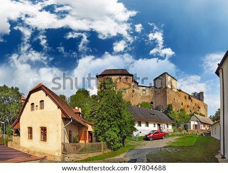 State castle Lipnice, national culture monument, Czech republic - stock photo