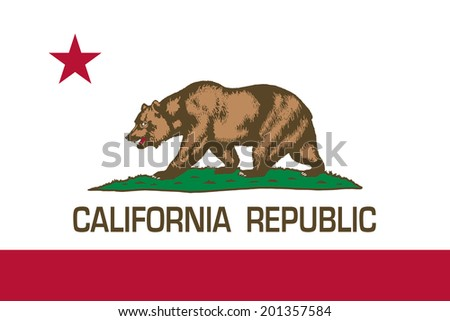 State flag of California - Authentic in scale and color - stock photo