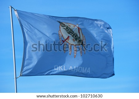 State Flag of Oklahoma - stock photo